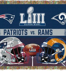Image NFL SuperBowl LIII Patriots vs Rams
